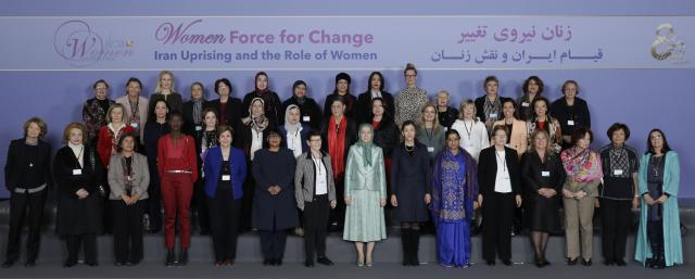 Women in international day from 5 conitinets in support of Iranian resistance and Iran uprising