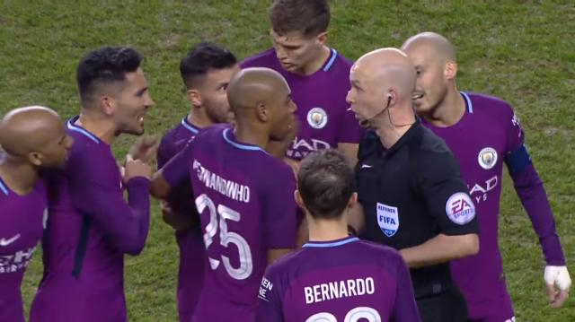 Fabian Delph sent off. [Image source: The Emirates FA Cup/YouTube]