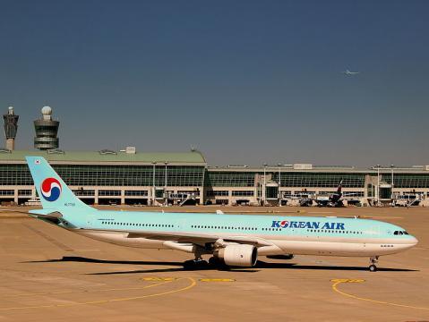 Korean Air Airbus at Incheon Airport, Seoul. - [Image credit – calflier001, Wikimedia Commons]
