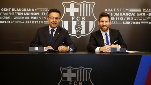 Lionel Messi firma un nuevo contrato hasta 2021 - FC Barcelona - fcbarcelona.es