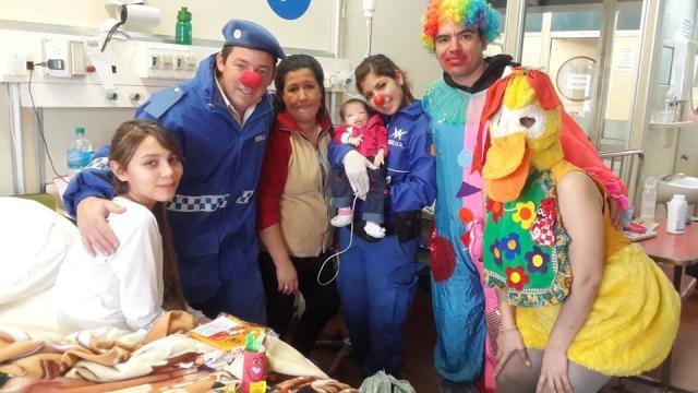 Visita del día del NIÑO Hospital Garrahan