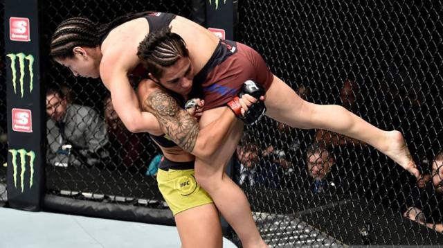 Jessica Andrade es una de las mejores peleadores en peso paja, en cuanto a grappling y cardiovascular. Fox Deportes.com.