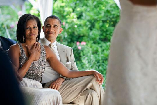 United States President Barack Obama and First Lady Michelle Obama (Image credit - Pete Souza, Wikimedia Commons)