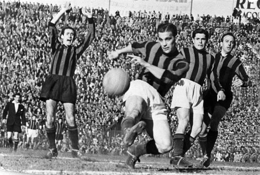 Gunnar Nordhal, uomo-derby per il Milan il 25 marzo 1951