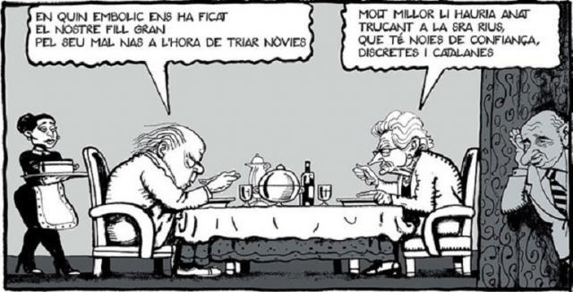 Otro chiste de Ferreres sobre los hijos corruptos de Jordi Pujol, contra quien también tenía munición.