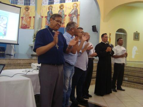 Padres da Forania abençoaram fiéis encerrando o lançamento da CF.