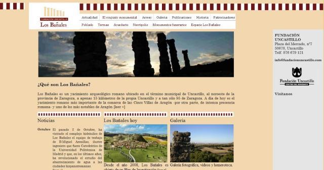 Captura de pantalla de la web de la Fundación Uncastillo, gestor del proyecto