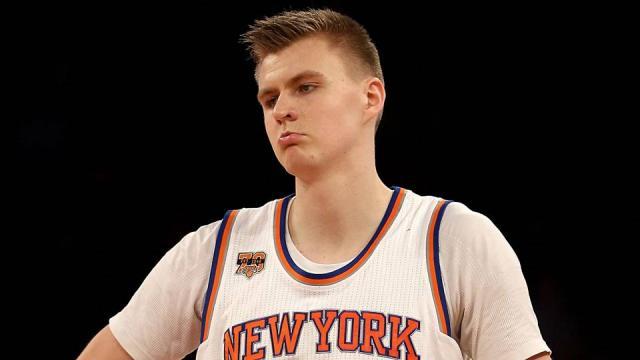 Kristaps Porzingis ankle injury concern to Knicks, report says ... - sportingnews.com