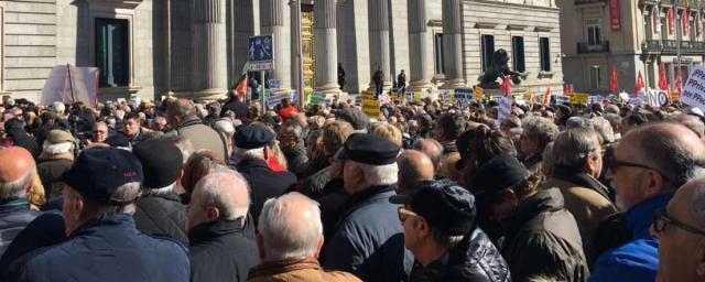 Manifestación de pensionistas frente al Congreso