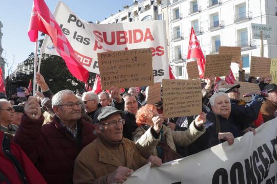 Manifestaciones de pensionistas, con el respaldo de los sindicatos