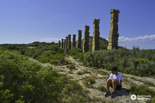 Yacimiento arqueológico Los Bañales: detalle de los restos de su acueducto romano. Fuente: Flickr ... - hiveminer.com