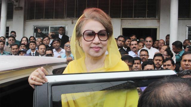 Khaleda Zia appears before court in graft cases | (Image via Dhaka Tribune)