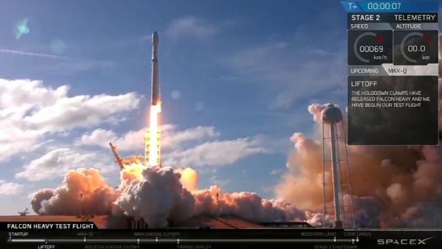 SpaceX : un lancement sans faute pour la Falcon Heavy (via Libération - liberation.fr)