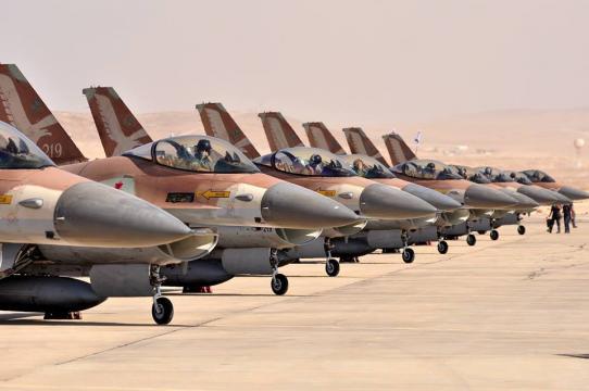 Batteria di F-16 dell'HHA israeliana