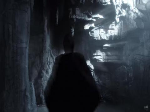 Bruce Wayne sees The Dark Knight as he hallucinates. - [Gotham / YouTube screencap]