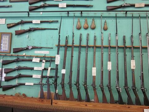 Collection of firearms in New Orleans (Image credit – Infrogmation, Wikimedia Commons)