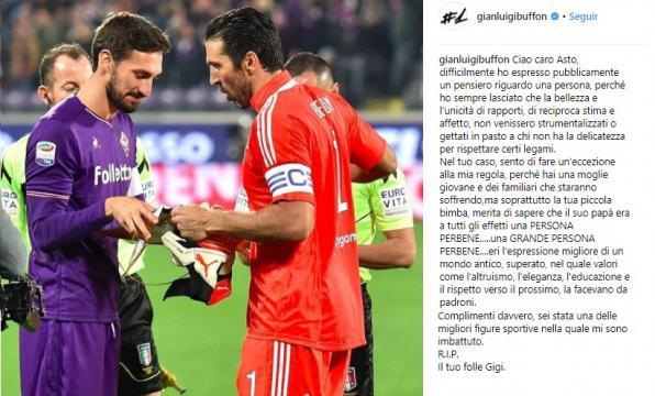 Reacção de Buffon ao falecimento de Davide Astori