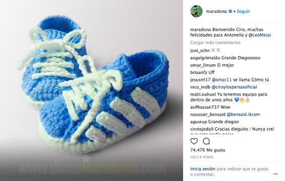 Con esta imagen Diego Maradona festejó a la familia: