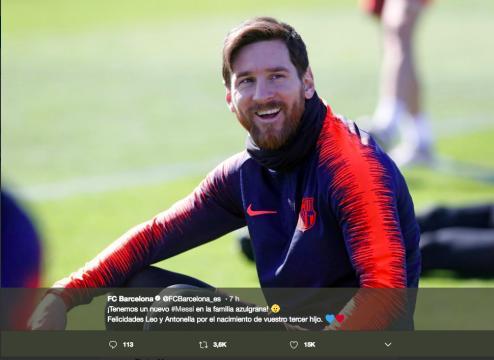 El Barcelona publicó: