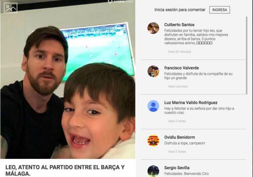 Observaron el partido entre el Barcelona y el Málaga (al cual faltó Messi por la llegada de su bebé).