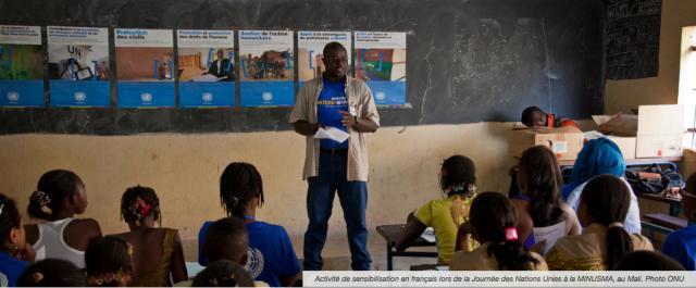 Divulgación del Francés en Minusma, Mali (Foto cortesía ONU).