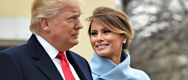 Donald Trump insieme alla moglie Melania