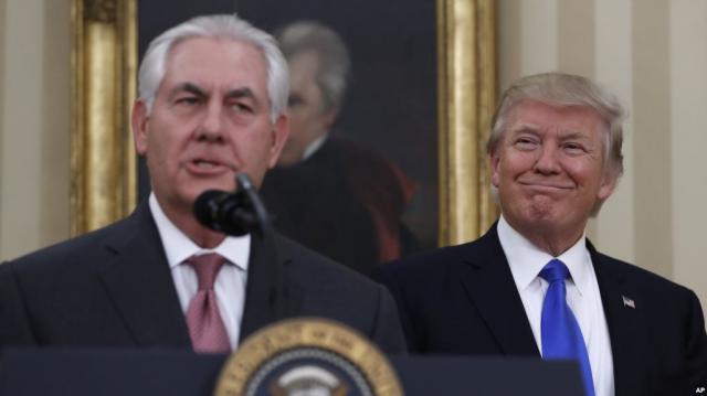 Tillerson Sworn In as Trump's Secretary of State - voanews.com