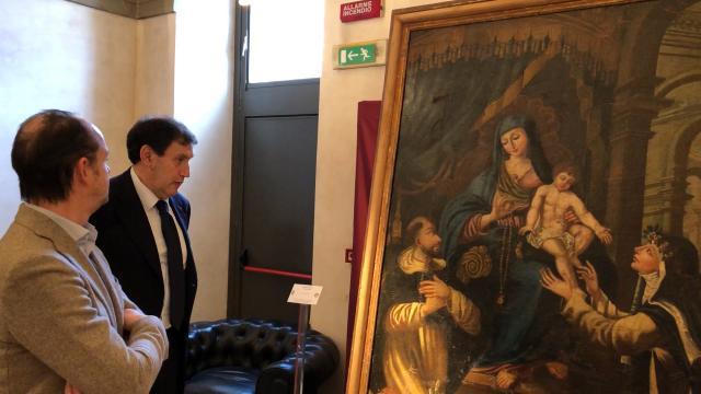 Momento di presentazione delle 37 opere recuperate dai Carabinieri TPC, Tutela Patrimonio Culturale