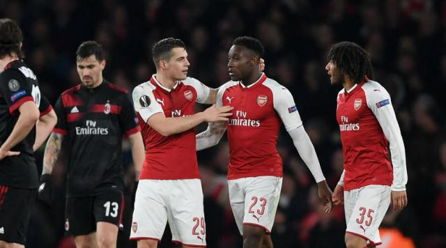 Xhaka y Welbeck con doblete marcaron los 3 goles del Arsenal en Emirates. FourFourTwo.com.