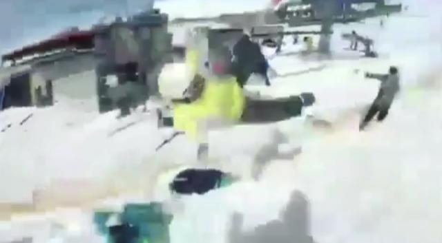 Skier goes flying off one of the ski lifts after malfunction - negoweek | Instagram