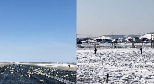 Material valioso que caiu de avião fez várias pessoas inciarem uma espécie de caça ao tesouro na neve em Yakutsk