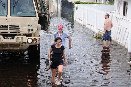 Puerto Rico flooded after Hurricane Maria (Image credit - Jose Ahiram Diaz-Ramos, Wikimedia Commons)