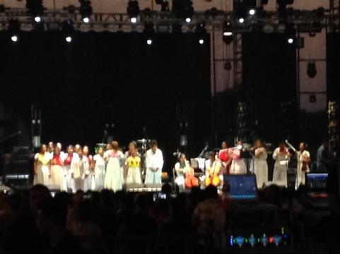 Los niños interpretaron canciones en lengua indígena para abrir los conciertos 2018.