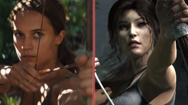 TOMB RAIDER Trailer and Video Game Get a Side-by-Side Comparison ... - nerdist.com