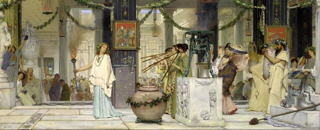 Plutarco, Vite Parallele - Romolo 21 Dipinto di Sir Lawrence Alma-Tadema