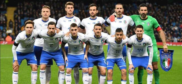 La Nazionale italiana di calcio.