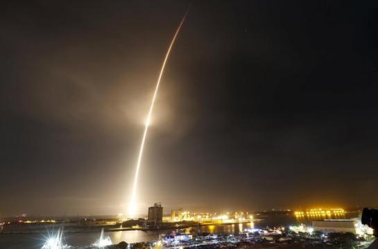 Aterrissagem do estágio de um foguete da SpaceX