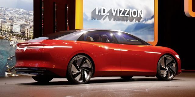 O Volkswagen I.D. Vizzion terá comandos por gestos e vozes, além de inteligência artificial