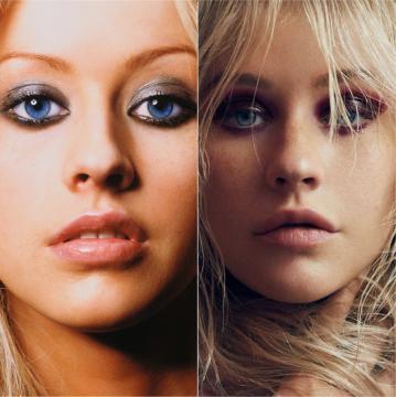 Christina Aguilera en el 2000 y en el 2018 (#XtinaPAPER)
