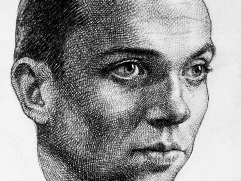 Retrato de Miguel Hernández, realizado por Buero Vallejo