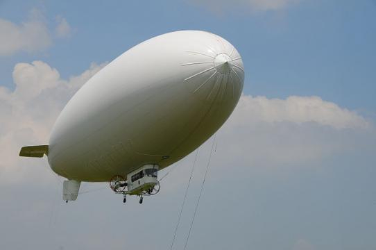 U.S. Navy MZ-3A manned airship (Image credit – Gina Routi, Wikimedia Commons)
