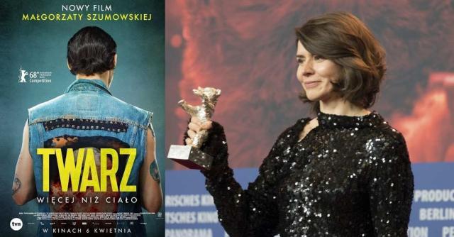 Małgorzata Szumowska ze Srebrnym Niedźwiedziem za film 'Twarz' (fot. materiały prasowe)
