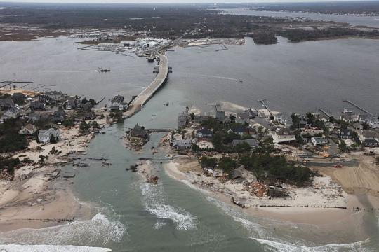 Storm damage along the New Jersey coast (Image credit – Greg Thompson, Wikimedia Commons)