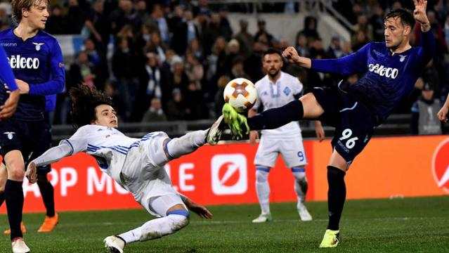 La Lazio no pudo pasar del empate a 2 vs el Dínamo de Kiev en Roma. MARCA.com.