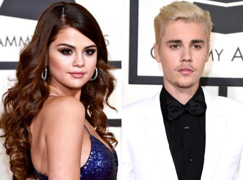 Selena Gomez e seu namorado Justin Bieber