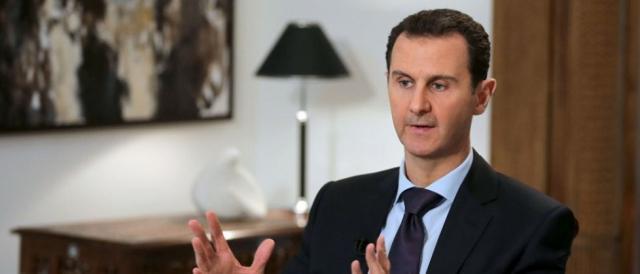 Bashar al-Assad ha negato ogni responsabilità sull'attacco chimico a Douma