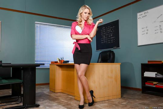 Katie Morgan fez o papel de uma professora em uma das cenas.