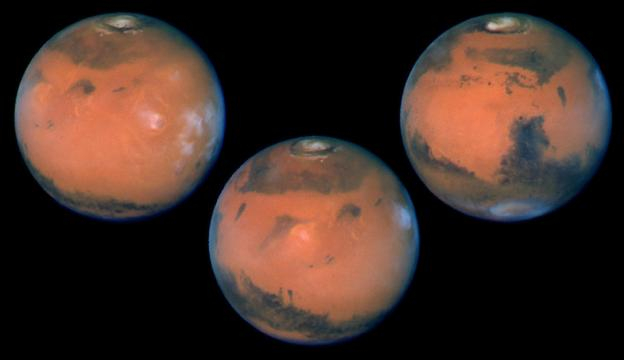Mars in opposition [Image via Wikimedia Commons]