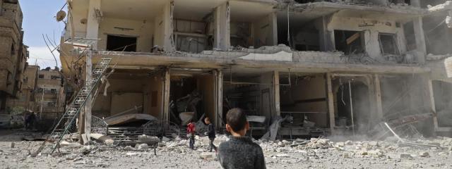 Syrie : Macron et Trump exigent l'application du cessez-le-feu ... - francetvinfo.fr