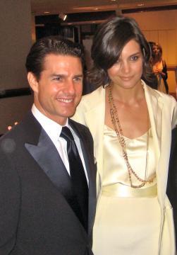 Tom Cruise y Katie Holmes en una recepción en la Casa Blanca, Washington, DC, EE.UU. (Jay Tamboli)